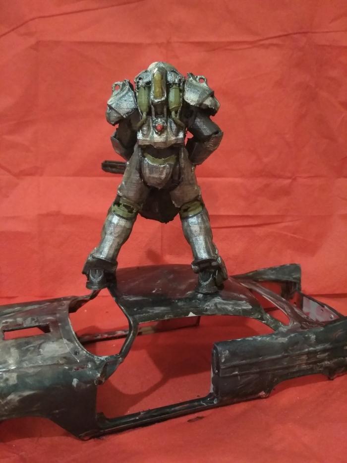Силовая броня Т-60 в масштабе 1/24 Fallout, т-60, Силовая броня, 3D печать, Длиннопост, Fallout 4, Fallout 76