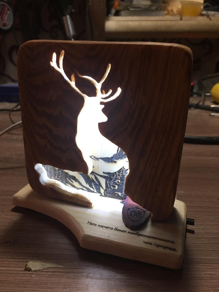 Ночник в подарок Подарок, Природа, Своими руками, Изделия из дерева, Рукоделие, Ночник, Длиннопост