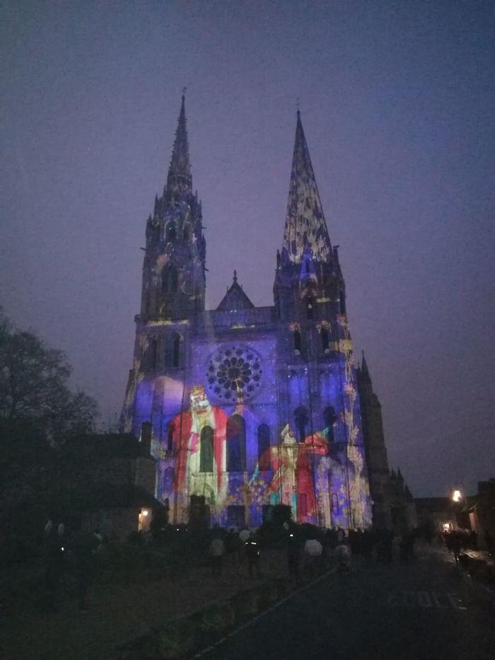 Собор в новогоднюю ночь. Фотография, Собор, Инсталляция, Версаль