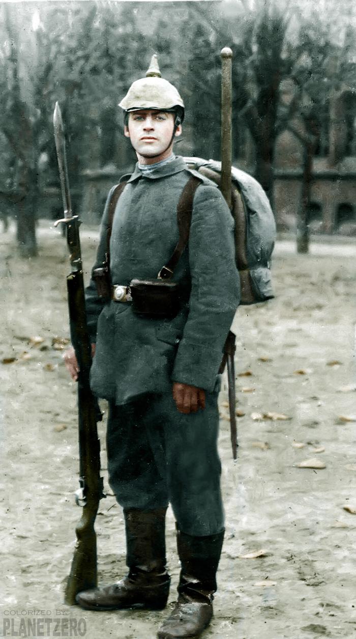 На западном фронте без перемен. Эрих Мария Ремарк в 1917г. Колоризация