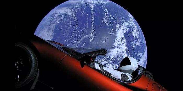 С новым годом из космоса! Космос, Космический корабль, Ракета, Астрономия, Spacex, Tesla, 2019, Длиннопост