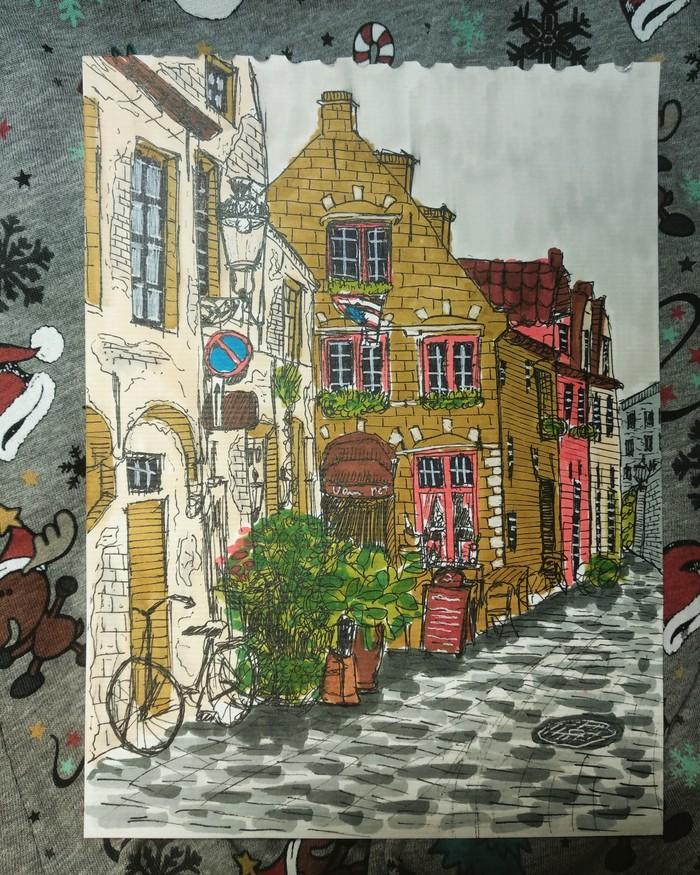 Одна из улиц Брюгге