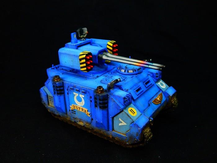 Razorback с подсветкой Warhammer 40k, Wh miniatures, Wh painting, Покраска миниатюр, Миниатюра, Ultramarines, Подсветка, Длиннопост