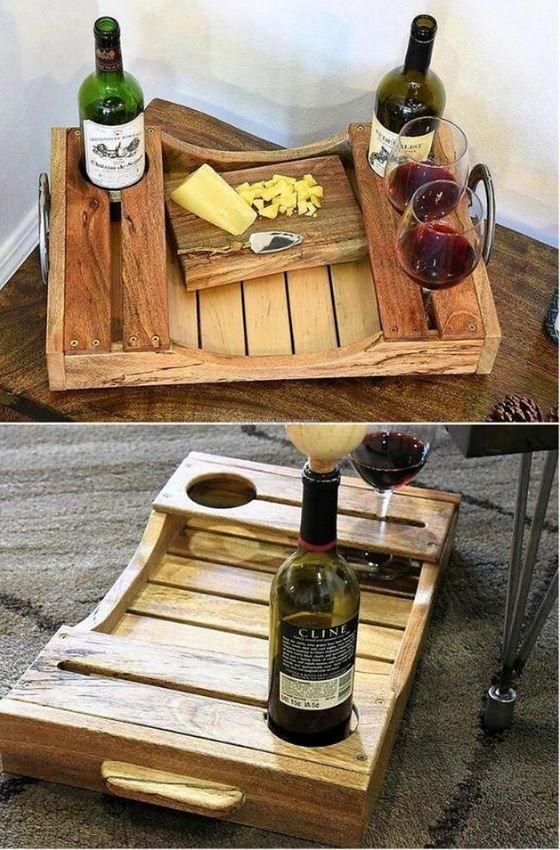 Винный поднос. Вино, Поднос, Мастерская, Подарок, Длиннопост, Рукоделие с процессом