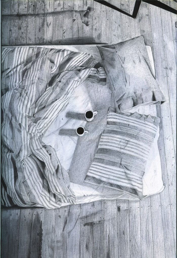 Утро Шариковая ручка, Арт, Рисунок, Рисунок ручкой, Длиннопост, Кровать, Утро, Чашки