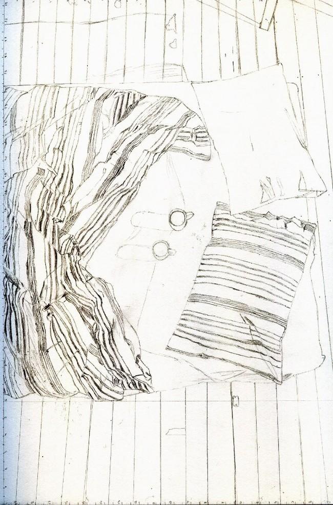 Утро Шариковая ручка, Арт, Рисунок, Рисунок ручкой, Длиннопост, Кровать, Утро, Чашка