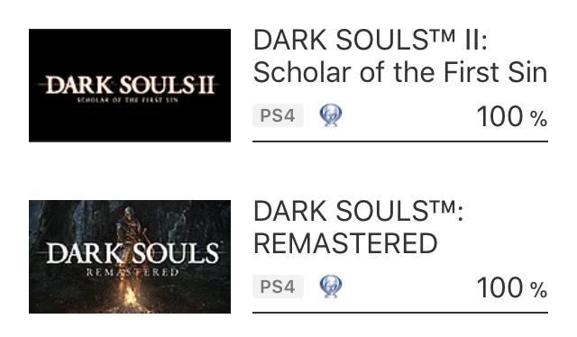 4 платины. Мне пора вешать джойстик на стену и уходить на пенсию Playstation 4, Sony PS4, Dark Souls, Bloodborne, Игры, Сложность, Ачивка