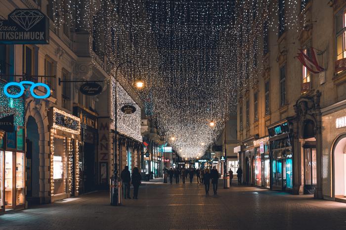 Вена в новогоднюю ночь Вена, Новый Год, Архитектура, Фотография, Австрия, Ночная съемка, Начинающий фотограф, Длиннопост