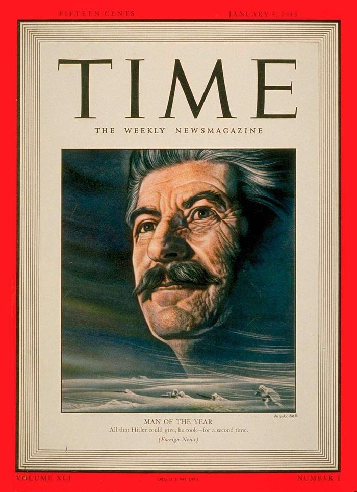 Человек 1942 года по версии журнала Time The Times, Человек года, Сталин, Коммунизм, Политика