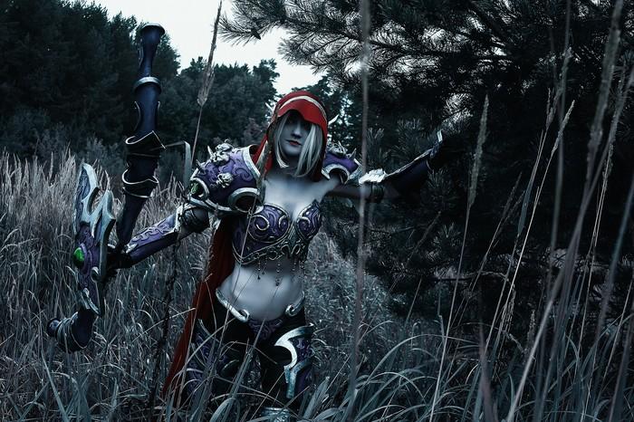 Сильвана Косплей, Blizzard, World of Warcraft, Фотография, Русский косплей, Доспехи, Длиннопост