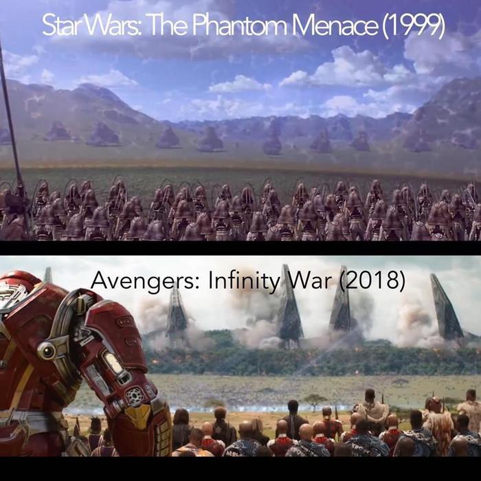 То чувство, когда даже Марвел копирует самую лучшую битву за всю историю...