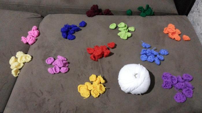 Плед из 12 цветов по 280 элементов... или как научится терпению и усидчивости ))) Плед, Творчество, Рукоделие с процессом, Вязание крючком, Цвет, Ручная работа, Много букв, Длиннопост