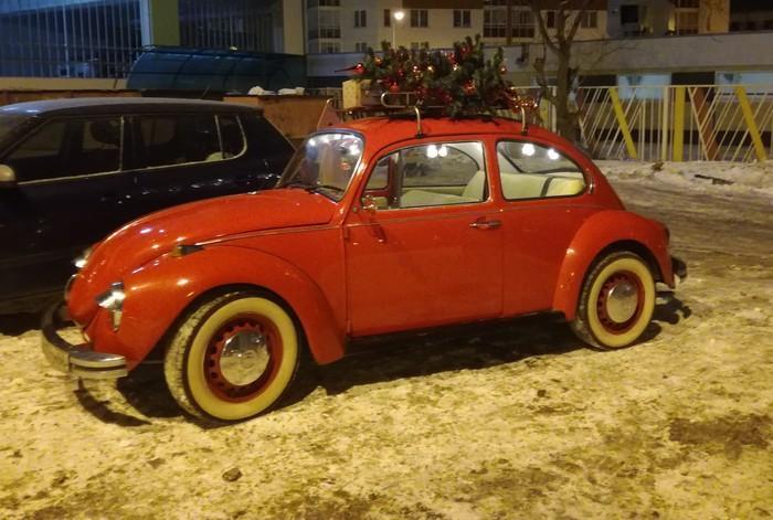 6 января, а Он еще здесь Дед Мороз, Транспорт, Volkswagen, VW Beetle