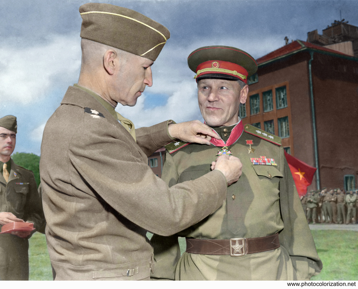 Моя колоризация Колоризация, Великая Отечественная война, Горбатов, Союзники, Длиннопост