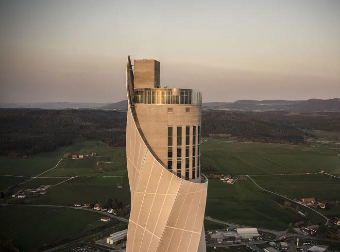 Как выглядит испытательный полигон для высотных лифтов Сооружения, Лифт, Германия, Тестирование