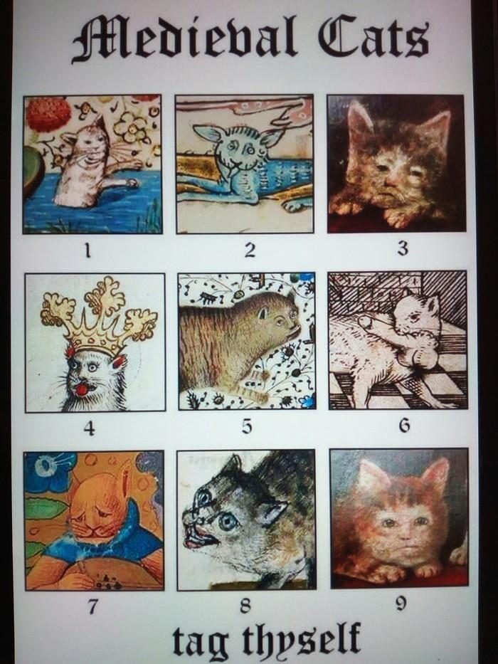Подборка изображений котов глазами художников средневековья Кот, Странные рисунки, Подборка, Смешное, Опасный, Странный юмор