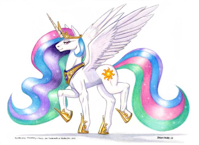 Celestia My Little Pony, Princess Celestia, Baron Engel