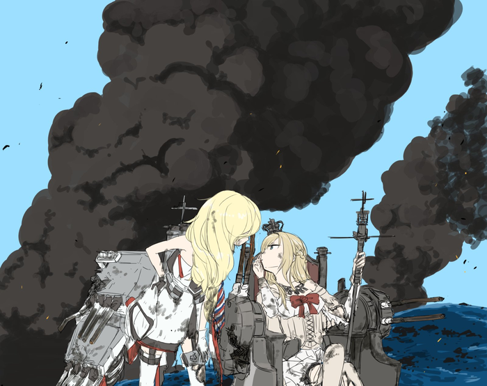 It's done Kantai Collection, Richelieu, Warspite, Аниме, Anime Art
