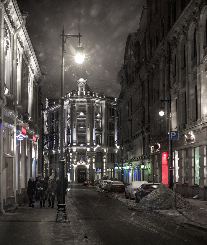 Снегопад в Первопрестольной