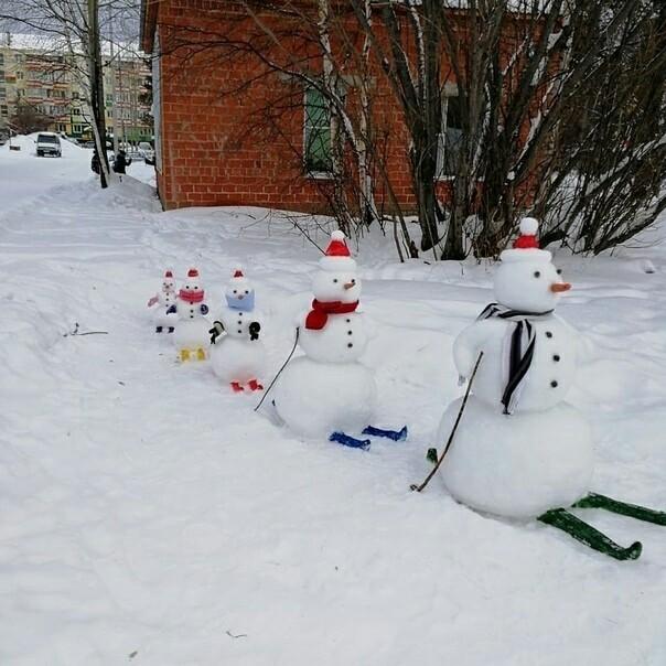 Снеговики))) Снеговик, Картинки