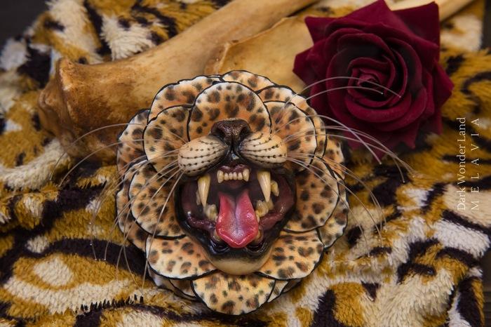 Леопард. Леопард, Полимерная глина, Длиннопост