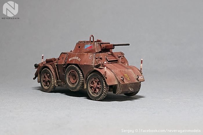 Итальянский бронеавтомобиль Autoblinda AB43 в масштабе 1:72 Стендовый моделизм, Масштабная модель, 1:72, Масштаб 72, Броневик, БТТ, Italeri, Длиннопост
