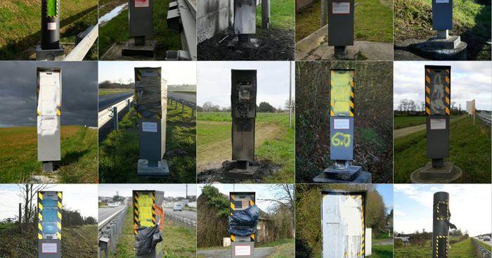 Во Франции повально громят дорожные камеры (60% не работает) Камера фиксации, Франция, Желтые жилеты, Борьба