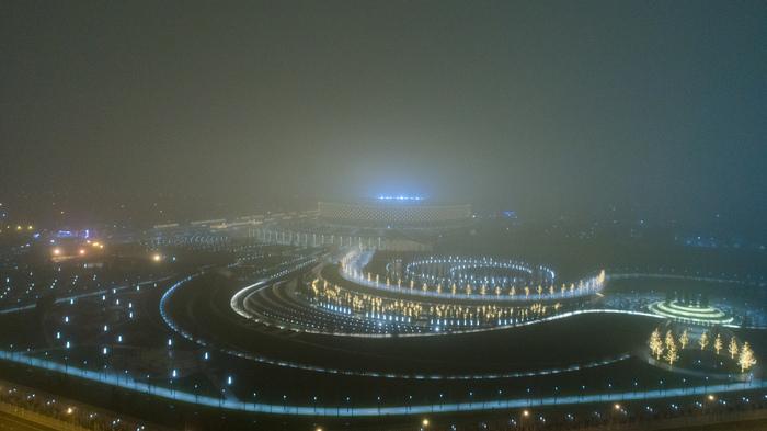 Туманная зима над парком Краснодар