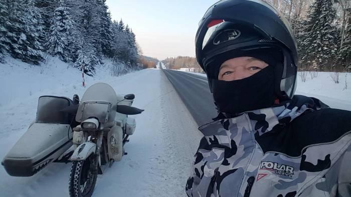 Дорогу осилит идущий. Зимнее мото-путешествие! Длиннопост, Путешествия, Мотоциклы, Зима, Мороз, Фотография