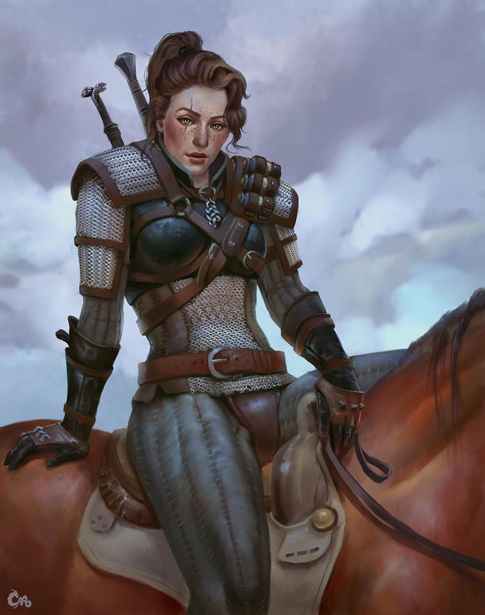 Blood Hunter Thia. Ведьмак, Арт, Фантазия