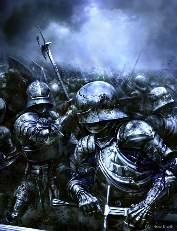 Битва Арт, Рисунок, Битва, Доспехи, Воин