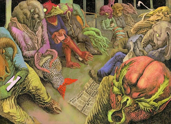 Квитковская что-то сделала: Арты по Фонду SCP SCP, SCP Art, Татьян Квитковский, Квитковская, Арт, Длиннопост