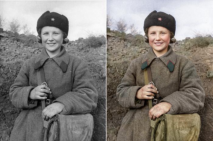 Моя колоризация Колоризация, Великая Отечественная война, Медсестра