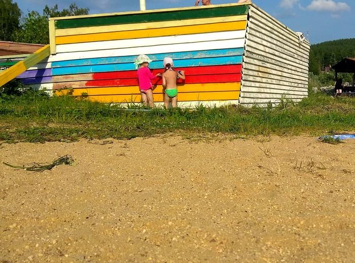 Дела житейские #48: Дочечка. Дела житейские, Дети, Лето, Пляж, Разговор, Текст, Солнечный зайчик, Длиннопост