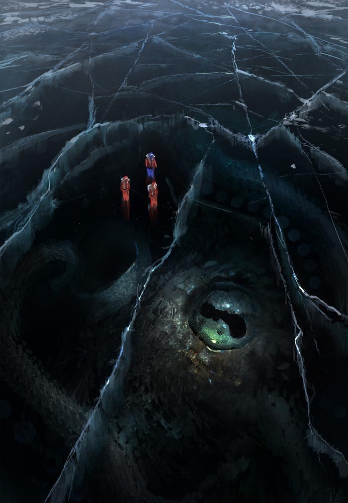 Тёмный лед Арт, Картинки, Кракен