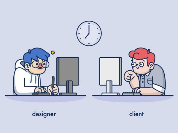 Из жизни дизайнеров и прочих творческих профессий. Дизайнер, Клиенты, Клиент из ада, Правки, Исправление ошибок, Гифка, Длиннопост