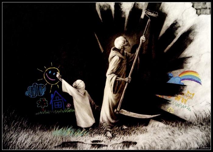 """Из серии """"Белая"""" Творчество, Sergoz, Иллюстрации, Рисунок, Белая, Жизнь, Смерть"""
