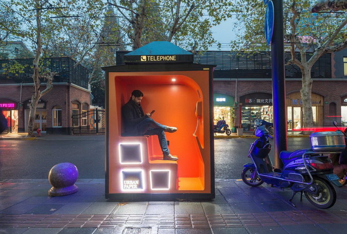 Как выглядят новые телефонные будки в Шанхае Шанхай, Телефонная будка, Новые технологии, Длиннопост