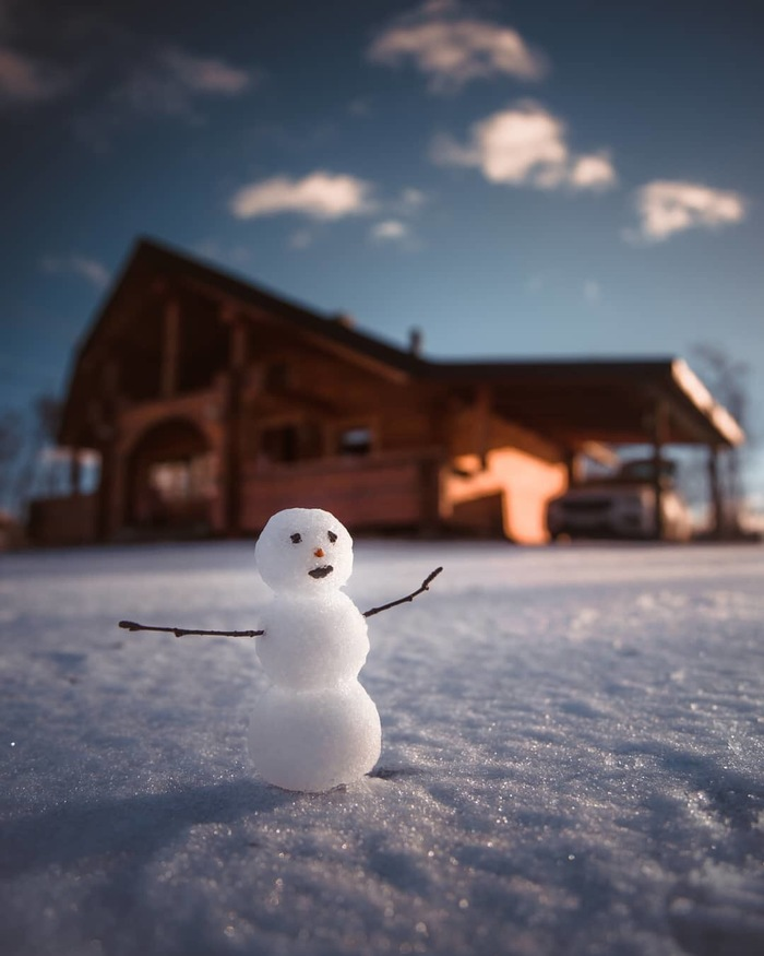 Снеговичок Фотография, Зима, Снеговик