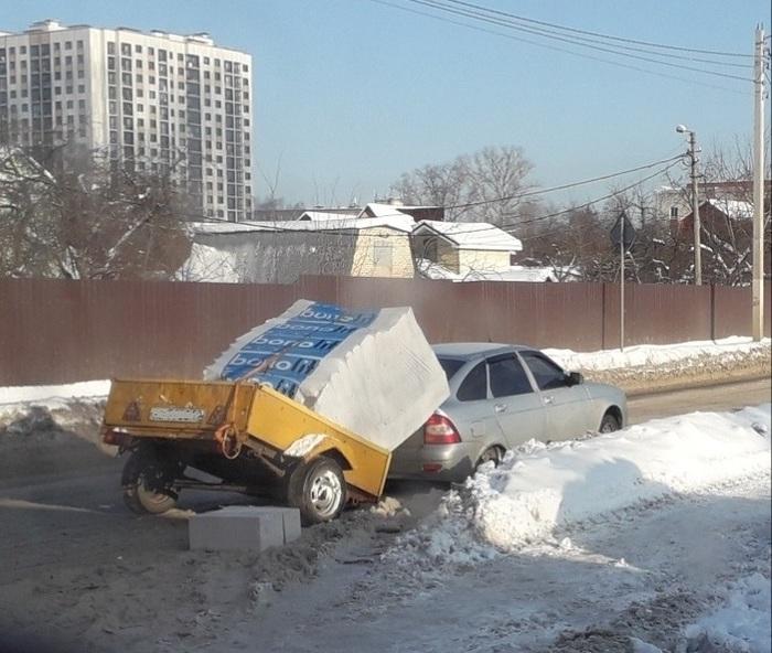 УПС... Машина, Прицеп, Поломка, Перегрузка