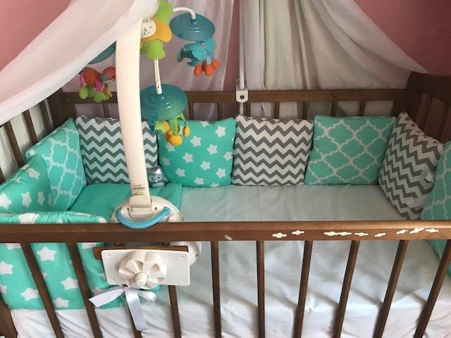 Бортики в детскую кроватку, мой первый опыт Постельное бельё, Детям, Рукоделие без процесса, Малыши, Детство, Шитье, Всем сладких снов, Творчество, Длиннопост