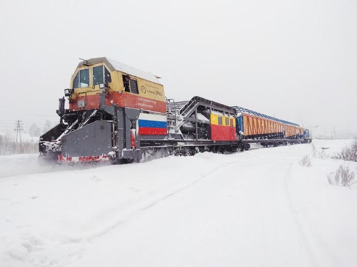 Снегоуборочная машина 654 Зима, Поезд, Vsco, Redmi Note 4x