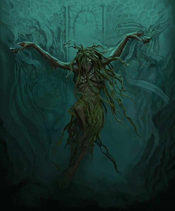 Морская ведьма Арт, Рисунок, Ведьмы, Крипота