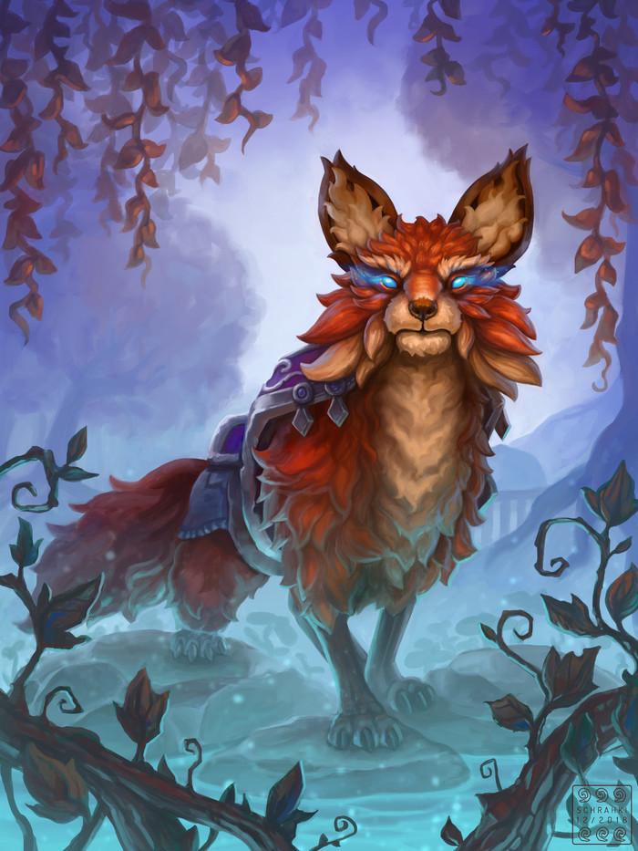 Ллотиенский хищник. Автор: Svenja Rosner Wow, World of Warcraft, Warcraft, Blizzard, Game Art, Арт, Творчество