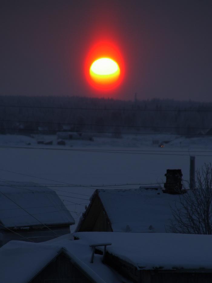 Небесное явление Солнце, Фотография, Зима, Длиннопост