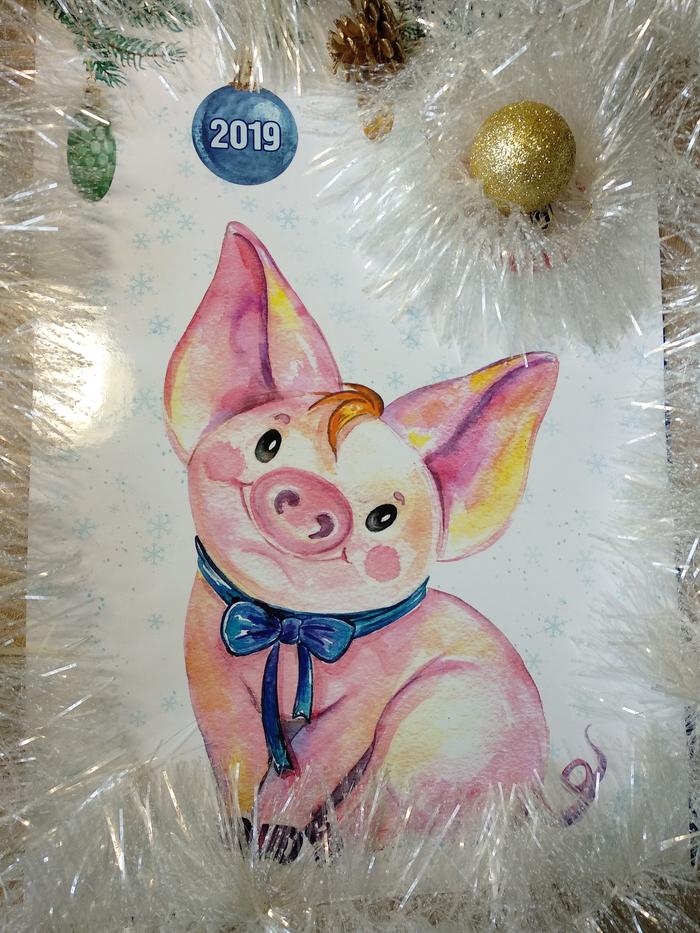 Календарь на 2019 год с моими и не только иллюстрациями. Длиннопост, Настенный календарь, Иллюстрации, Misudzu, 12 месяцев, Календарь, 2019, Рисунок