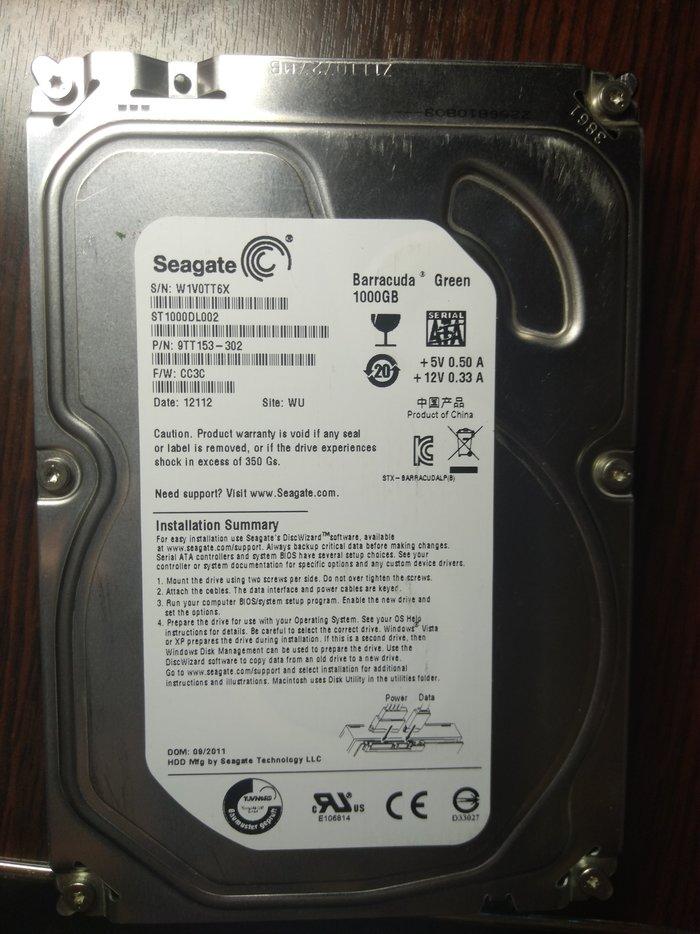Ремонт или замена контроллера жесткого диска Seagate ST1000DL002 Ремонт, Восстановление, Seagate, Длиннопост