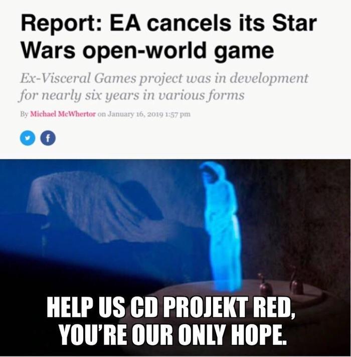 Когда Электроники отменяют игру в открытом мире по Звездным Войнам. Ea games, Star Wars, Reddit, Cd Projeckt Red
