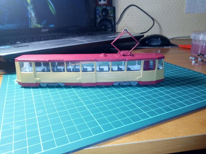 Модель трамвая на 3д принтере Трамвай, Модель, Стендовый моделизм, Челябинск, 3D принтер, Длиннопост