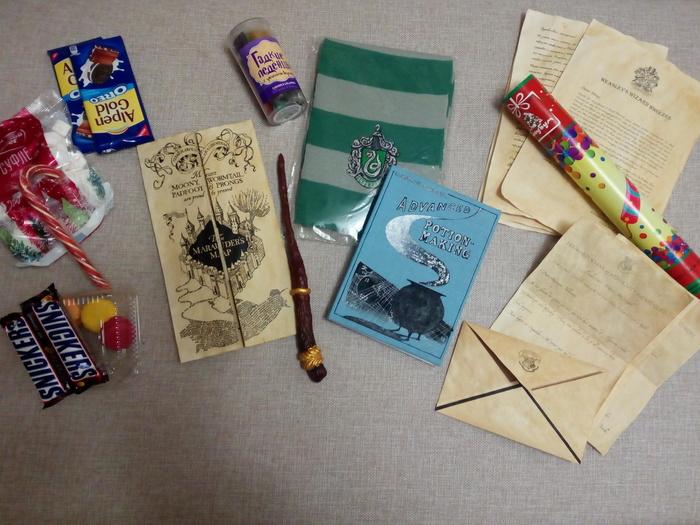 Посылка из Хогвартса на совершеннолетие волшебницы Гарри Поттер, Подарок, Своими руками, Длиннопост, Идея, День рождения, Оригинальный подарок, Пятничный тег моё